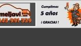 MELJAVI, empresa de electricistas Zaragoza - 5º aniversario