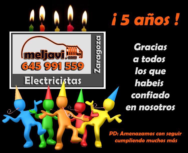 Electricistas Zaragoza_5 años_Meljavi